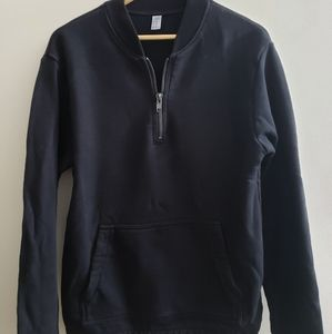 Black crew zip jacket